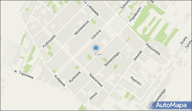 Michałowice, Rynkowa, mapa Michałowice