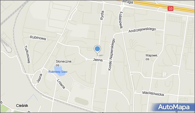 Szczecin, Rydla Lucjana, mapa Szczecina