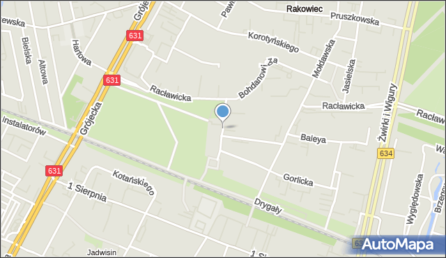 Warszawa, Sąchocka, mapa Warszawy