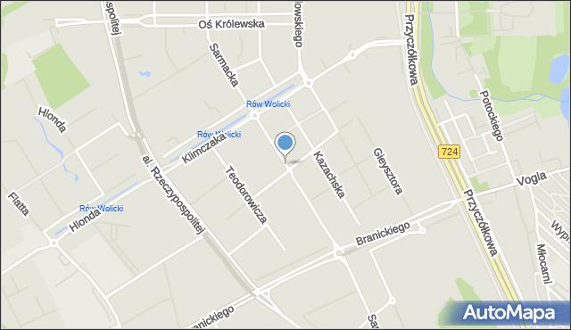 Warszawa, Sarmacka, mapa Warszawy