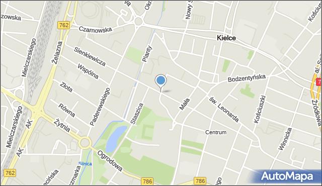 Kielce, Sienkiewicza Henryka, mapa Kielc