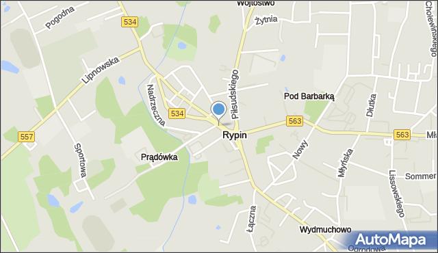 Rypin, Sienkiewicza, pl., mapa Rypin