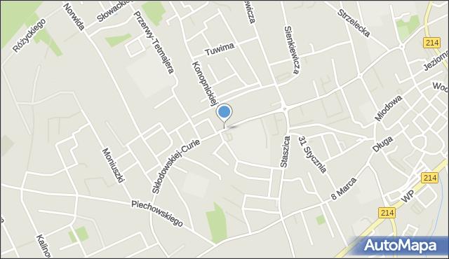 Kościerzyna, Skłodowskiej-Curie Marii, mapa Kościerzyna