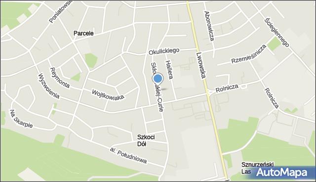 Tomaszów Lubelski, Skłodowskiej Marii, mapa Tomaszów Lubelski