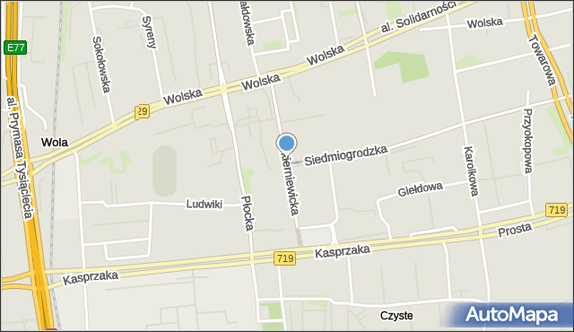 Warszawa, Skierniewicka, mapa Warszawy