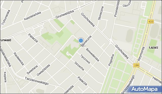 Poznań, Słoneczna, mapa Poznania