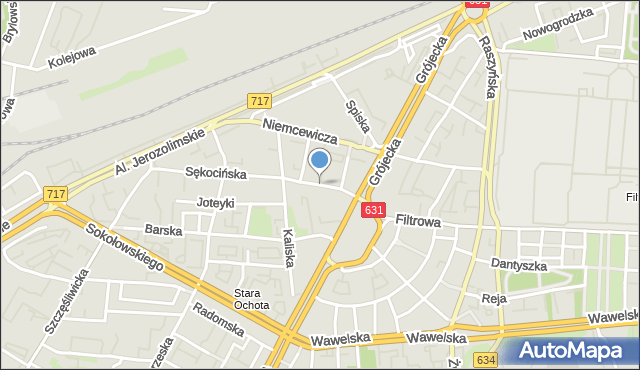 Warszawa, Słupecka, mapa Warszawy