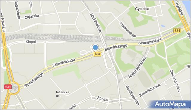 Warszawa, Słomińskiego Zygmunta, mapa Warszawy