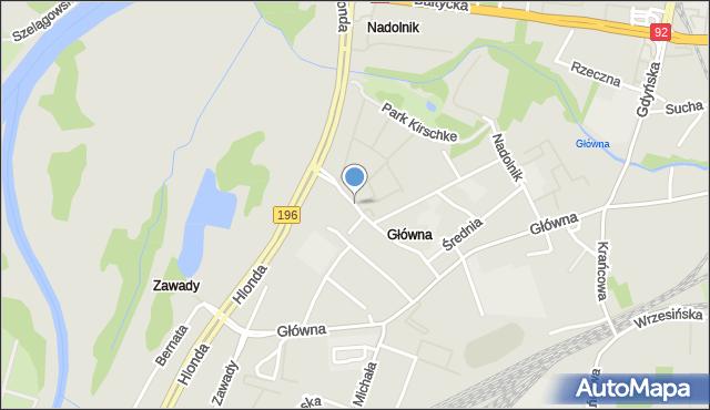 Poznań, Smolna, mapa Poznania