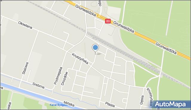 Bydgoszcz, Sowia, mapa Bydgoszczy