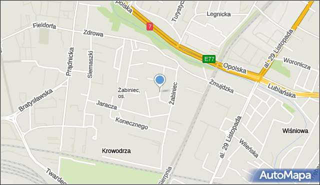 Kraków, Solskiego Ludwika, mapa Krakowa