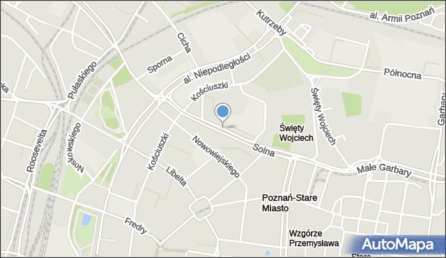 Poznań, Solna, mapa Poznania