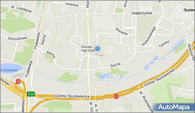 Warszawa, Sonaty, mapa Warszawy