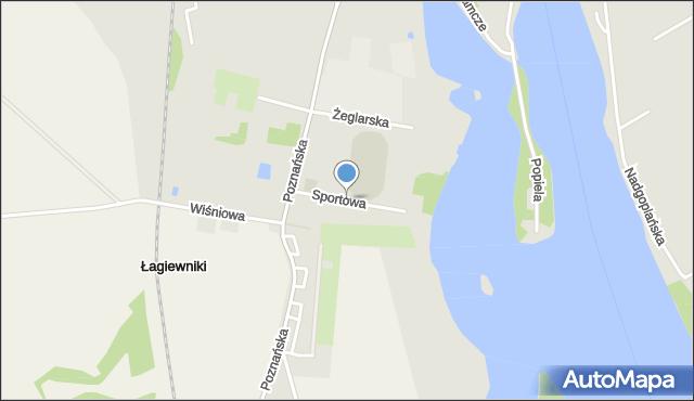 Kruszwica, Sportowa, mapa Kruszwica