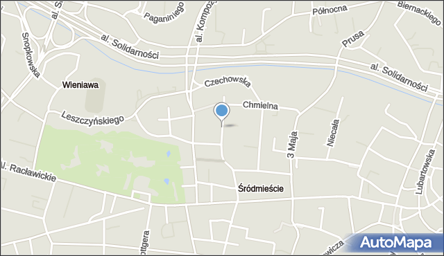 Lublin, Spokojna, mapa Lublina