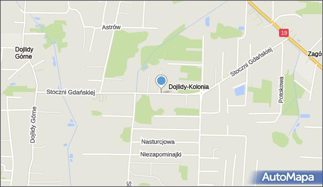 Białystok, Stoczni Gdańskiej, mapa Białegostoku
