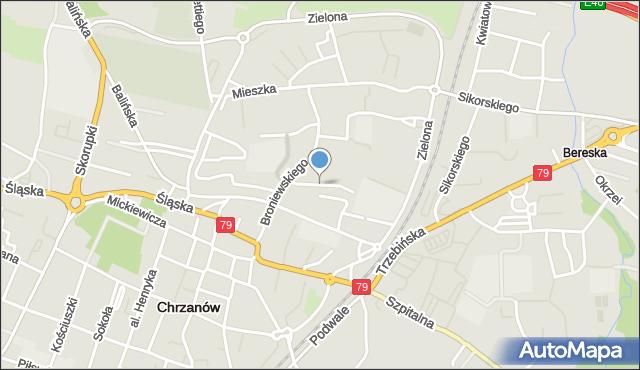 Chrzanów, Struga, mapa Chrzanów