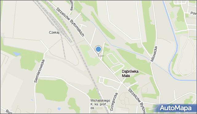 Katowice, Strzelców Bytomskich, mapa Katowic
