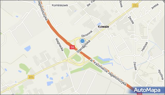 Kowale, Staropolska, mapa Kowale