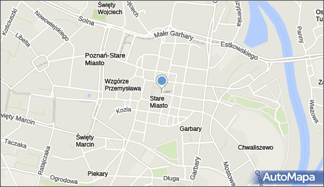 Poznań, Stary Rynek, mapa Poznania