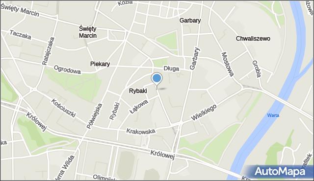 Poznań, Strzelecka, mapa Poznania