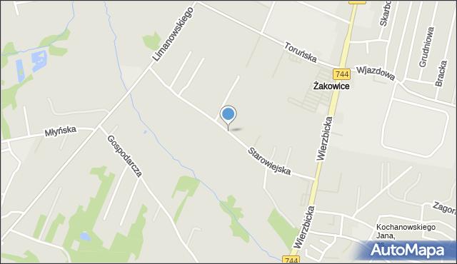 Radom, Starowiejska, mapa Radomia