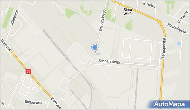 Siedlce, Starzyńskiego Stefana, mapa Siedlce