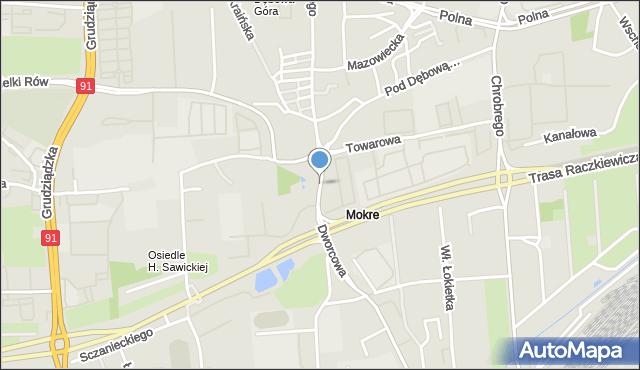 Toruń, Stefana Batorego, mapa Torunia