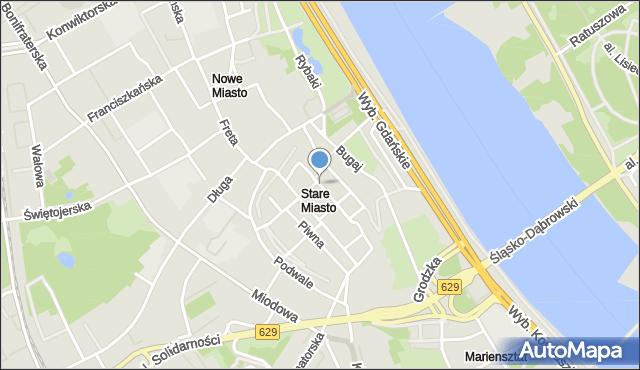 Warszawa, Starego Miasta Rynek, mapa Warszawy