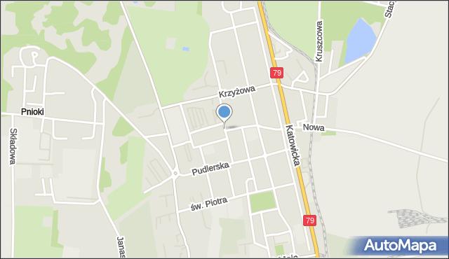 Chorzów, św. Pawła, mapa Chorzów