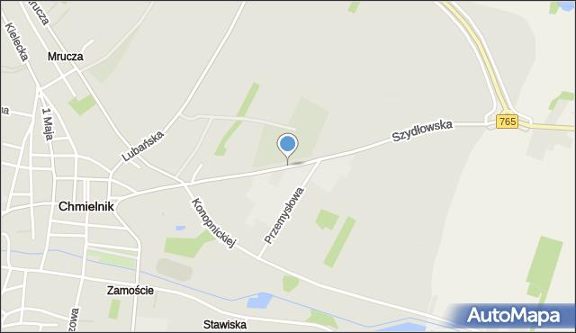 Chmielnik, Szydłowska, mapa Chmielnik