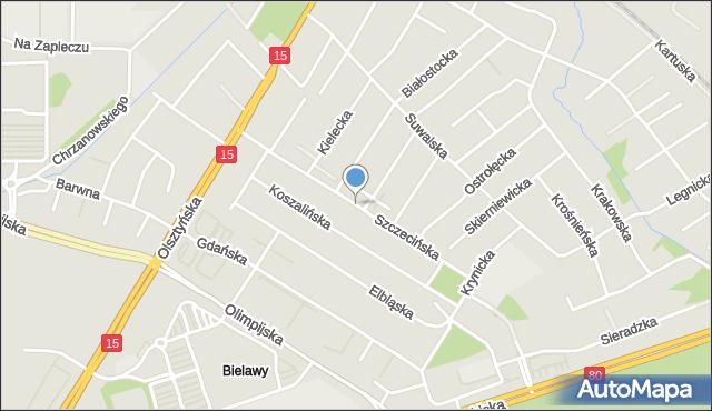 Toruń, Szczecińska, mapa Torunia