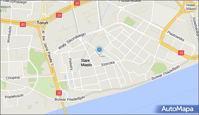 Toruń, Szczytna, mapa Torunia