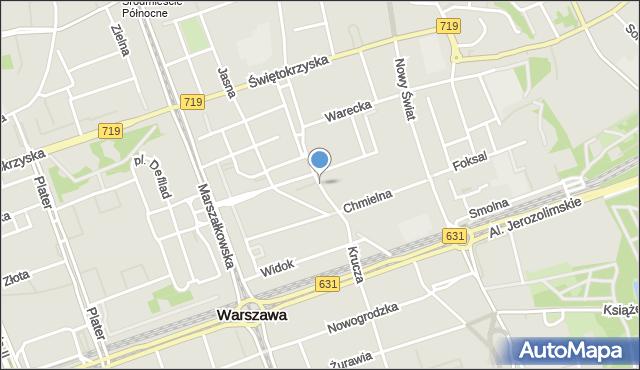Warszawa, Szpitalna, mapa Warszawy