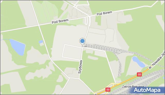 Zabrze, Szybowa, mapa Zabrza