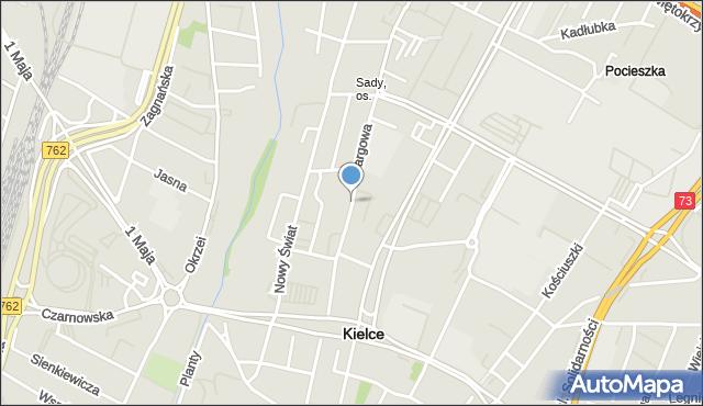 Kielce, Targowa, mapa Kielc