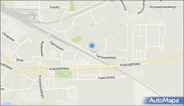 Kołobrzeg, Tarnowskiego Jana, mapa Kołobrzegu