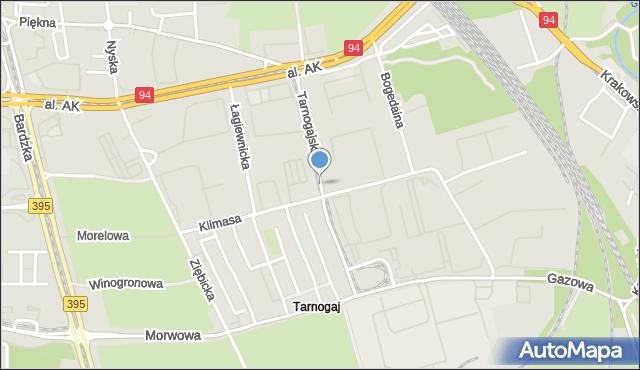 Wrocław, Tarnogajska, mapa Wrocławia