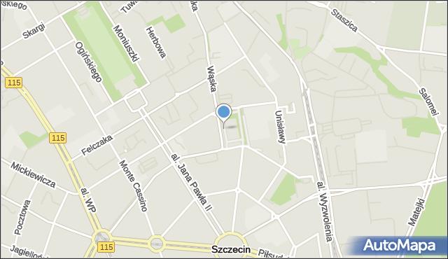 Szczecin, Teatralny, pl., mapa Szczecina