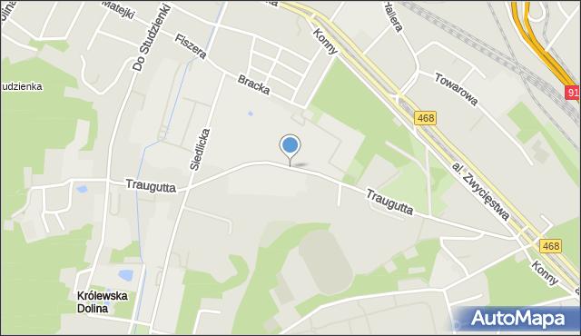Gdańsk, Traugutta Romualda, mapa Gdańska