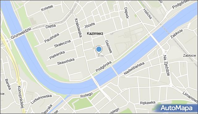 Kraków, Trynitarska, mapa Krakowa