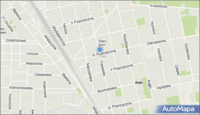 Warszawa, Trawiasta, mapa Warszawy
