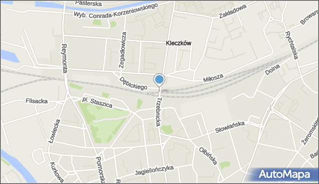 Wrocław, Trzebnicka, mapa Wrocławia