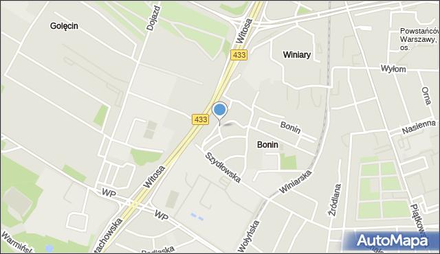 Poznań, Turkusowa, mapa Poznania