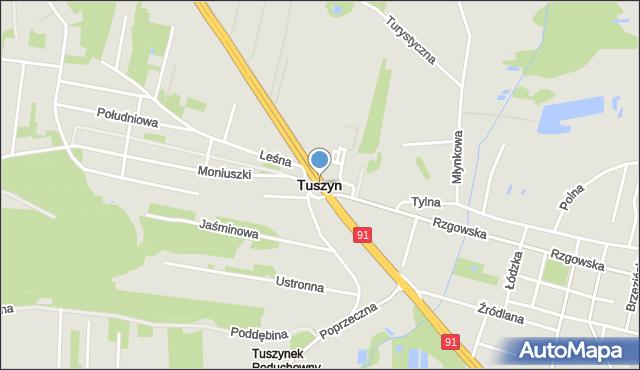 Tuszyn, Tuszyn, mapa Tuszyn