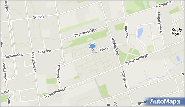 Łódź, Tylna, mapa Łodzi