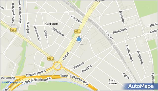 Warszawa, Tytoniowa, mapa Warszawy