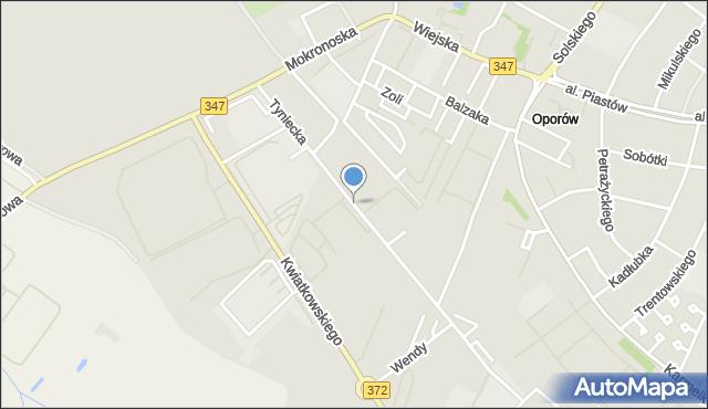 Wrocław, Tyniecka, mapa Wrocławia