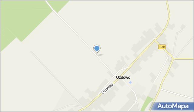 Uzdowo, Uzdowo, mapa Uzdowo