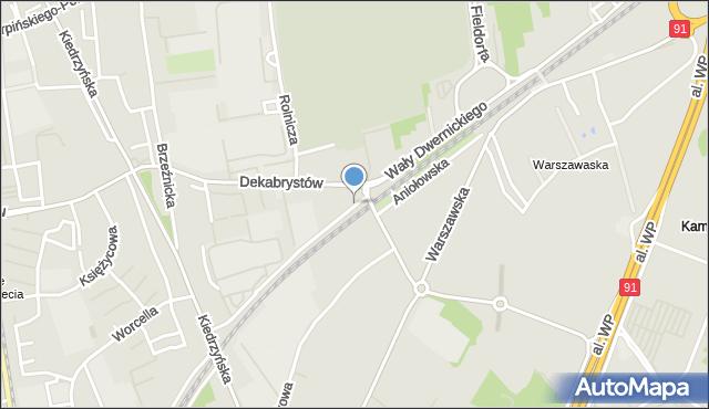Częstochowa, Wały Dwernickiego Józefa, gen., mapa Częstochowy